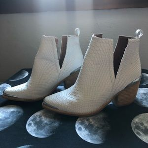 Jefferey Campbell white cowboy booties